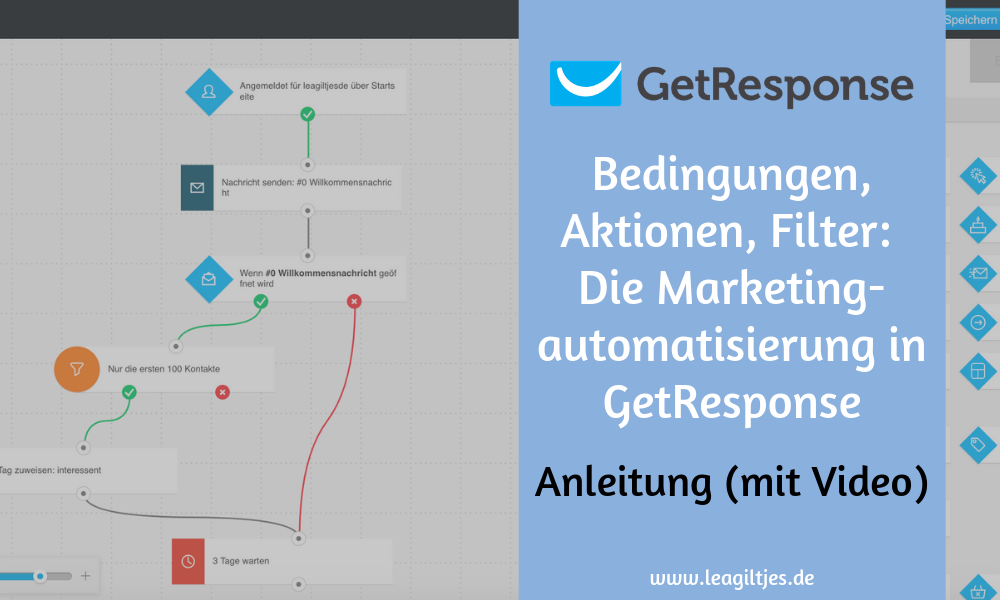 GetResponse Marketingautomatisierung Tutorial