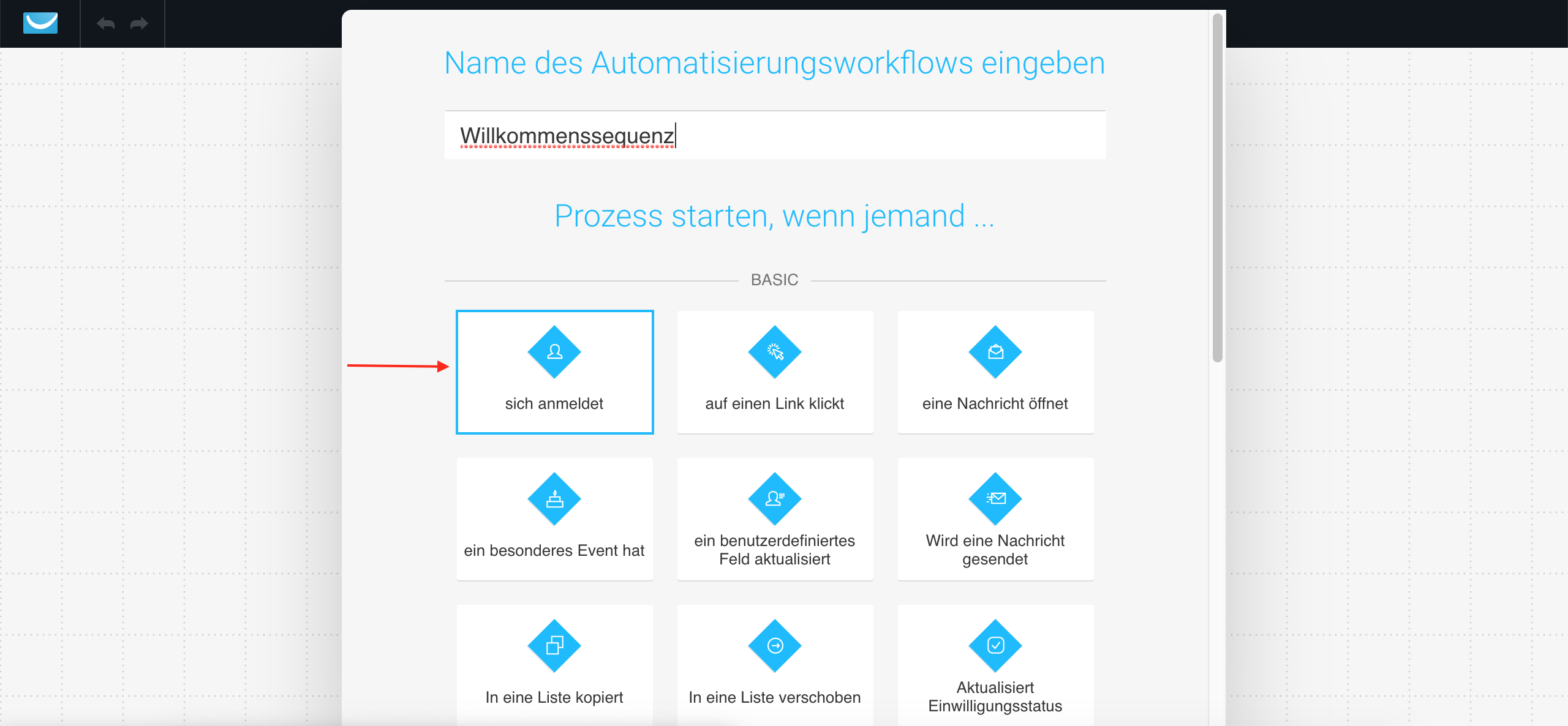 GetResponse Marketingautomatisierung: Workflow starten