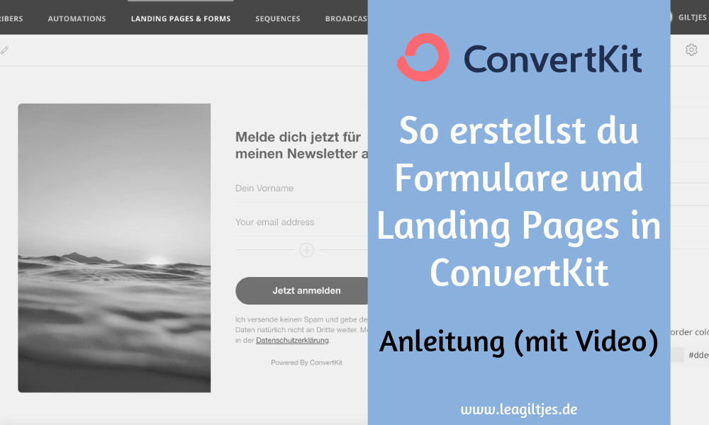 ConvertKit Formulare & Landing Pages Tutorial