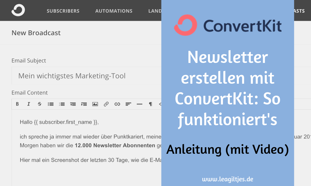 ConvertKit Newsletter Tutorial